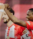 Patson Daka, un zambiano de 21 años brilla en la Bundesliga Austriaca y hace olvidar al noruego Haaland. Foto Prensa Libre: Tomado de redes