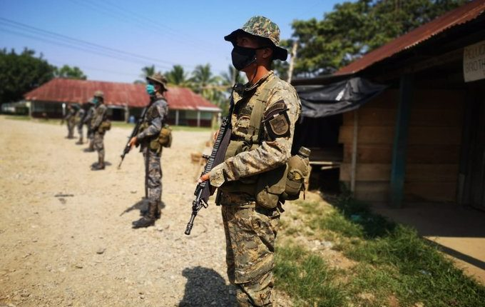 Catorce soldados de la Sexta Brigada en Ixcán contagiados de coronavirus. (Foto Prensa Libre: @brigada_sexta)