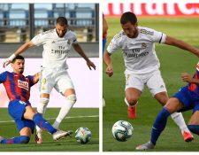 Eden Hazard y Karim Benzema fueron las figuras del Real Madrid contra el Éibar. (Foto Prensa Libre: AFP)