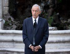 El presidente de Portugal, Marcelo Rebelo de Sousa será quien decida si habrá público en la fase final de la Champions en Lisboa. Foto Prensa Libre: AFP