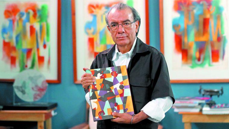 Las obras del artista Rudy Cotton se caracterizan por las figuras geométricas y su colorido. (Foto Prensa Libre: Hemeroteca PL).