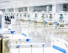 Hospital para pacientes con coronavirus en El Salvador. (Foto Prensa Libre: @ComunicacionSV).