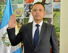 Hugo Cabrera Navas, fue juramentado en marzo como viceministro en el Maga.También es catedrático universitario en la Usac. (Foto, Prensa Libre: Maga).