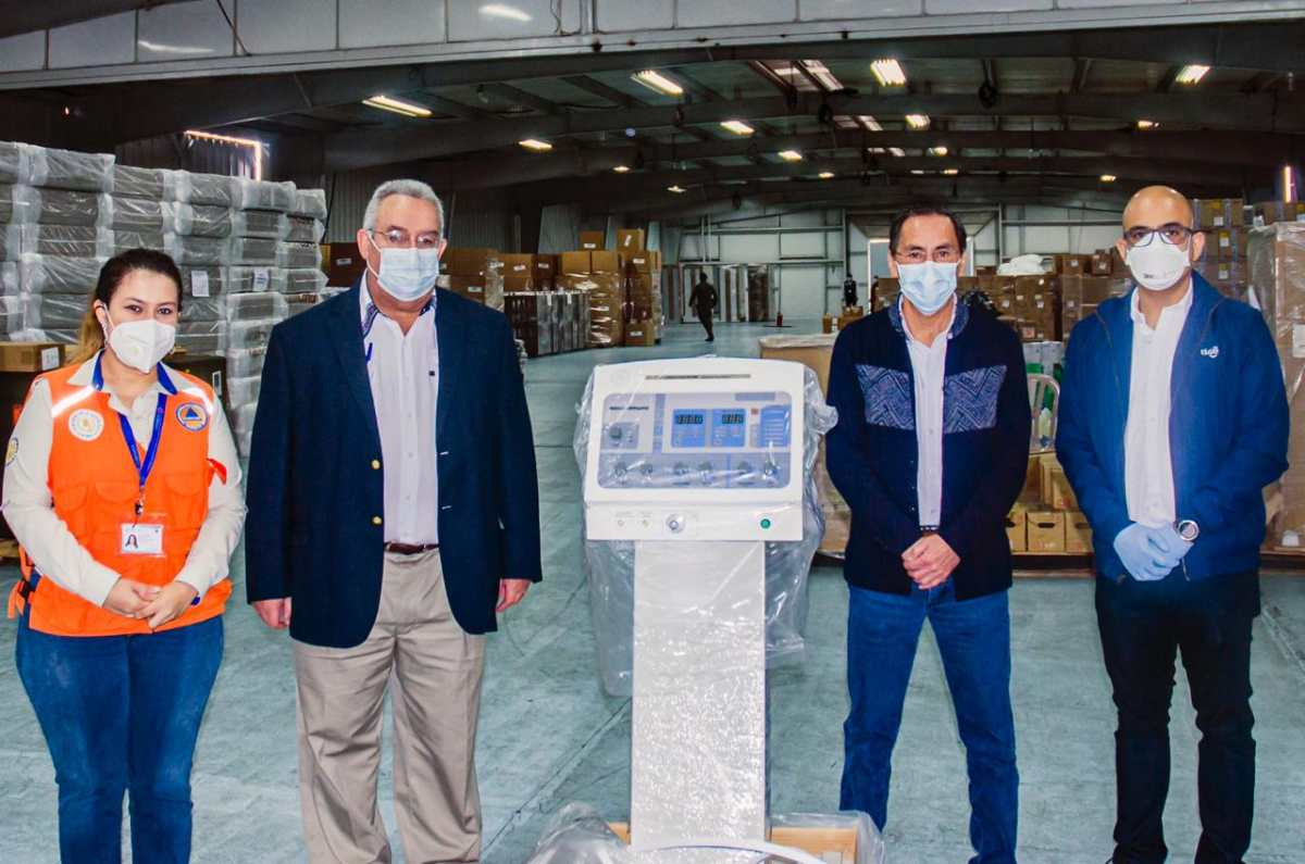 Tigo Guatemala donó 44 respiradores a los hospitales que atienden la pandemia