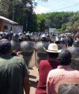 Tensión en Malacatán por cordón sanitario por el coronavirus. (Foto Prensa Libre)