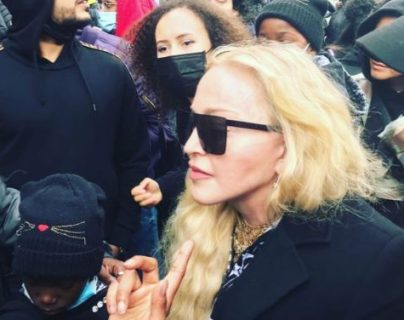 Madonna participó por las protestas contra el racismo en Londres. Foto tomada de su Instagram @Madonna