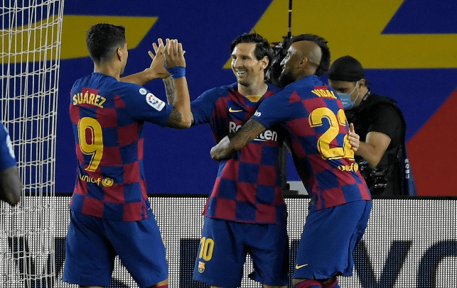 Lionel Messi fue la figura del triunfo del Barcelona contra el Leganés. (Foto Prensa Libre: AFP)