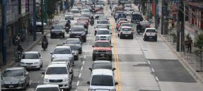 La circulación vehicular en Guatemala ha sido limitada entre departamentos y en horarios como parte de las acciones para combatir el coronavirus. (Foto Prensa Libre: Hemeroteca PL)