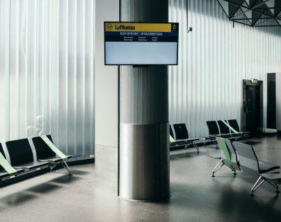 Un salón tranquilo en el aeropuerto de Frankfurt en Frankfurt, Alemania, el 3 de junio de 2020.  (Felix Schmitt / The New York Times)
