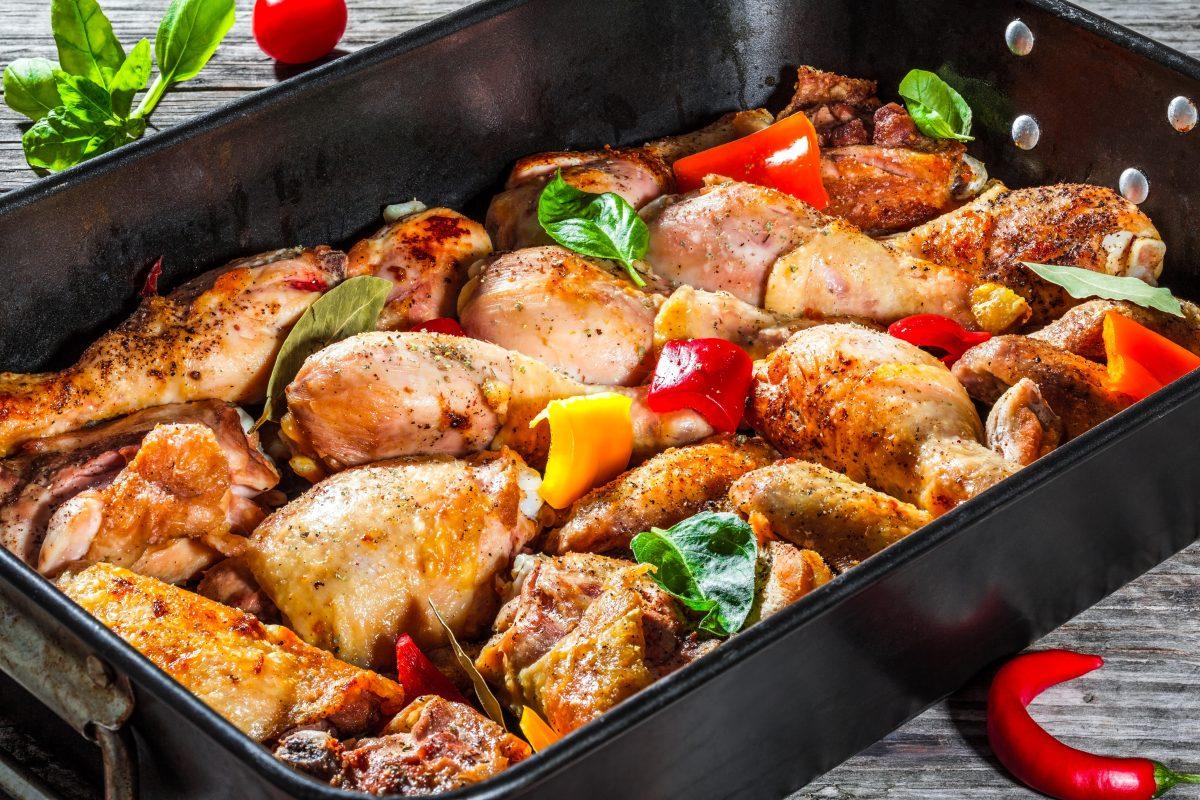 Receta de pollo con chile pimiento