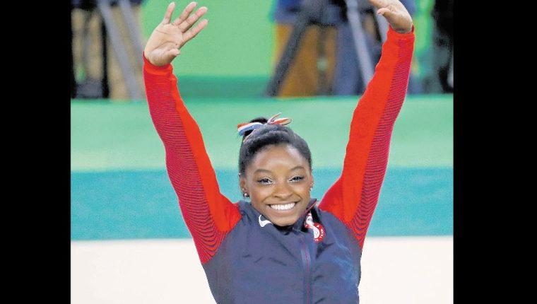 Simone Biles es la gimnasta más galardonada en la historia de Estados Unidos. (Foto Prensa Libre: Hemeroteca PL)
