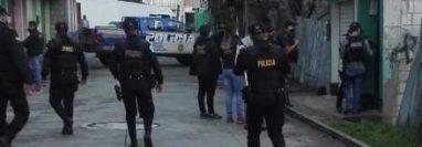Los operativos se llevan a cabo en Tacaná, San Marcos, donde un niño fue secuestrado y hallado muerto. (Foto Prensa Libre: PNC)