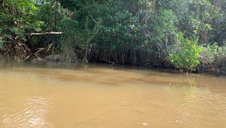 El agua contaminada en algunas partes del Río Ocosito. (Foto Prensa Libre: Cortesía Conap)