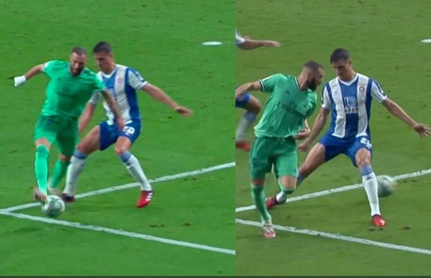 Joya de asistencia de Benzema en el gol del Real Madrid contra el Espanyol