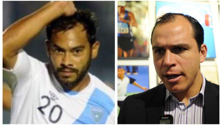 Carlos Ruiz y Dwight Pezzarossi, exjugadores y exseleccionados guatemaltecos. (Foto Prensa Libre: Hemeroteca PL)