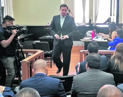 Luis Fernando Pérez Martínez durante una audiencia. (Foto Prensa Libre: Hemeroteca).