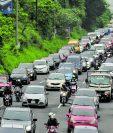 La circulación de vehículos por número de placa empieza el martes 16 de junio. (Foto Prensa Libre: Hemeroteca).