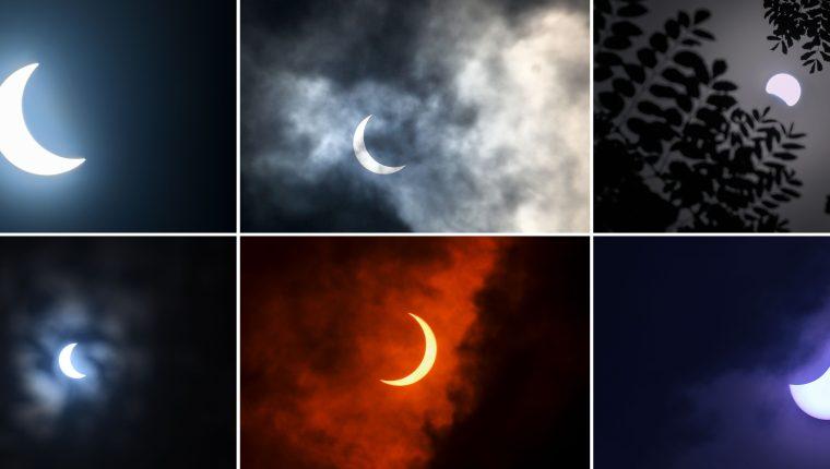 Fotografías de distintos países y la observación del eclipse anular de sol.   (Foto Prensa Libre: AFP)