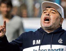 Diego Maradona ha tenido problemas emocionales durante la cuarentena. (Foto Prensa Libre: Hemeroteca PL)