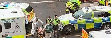 La policía abatió al sospechoso, que atacó a sus víctimas en un hotel del centro de Glasgow. (picture-alliance/AP/@Milroy171)