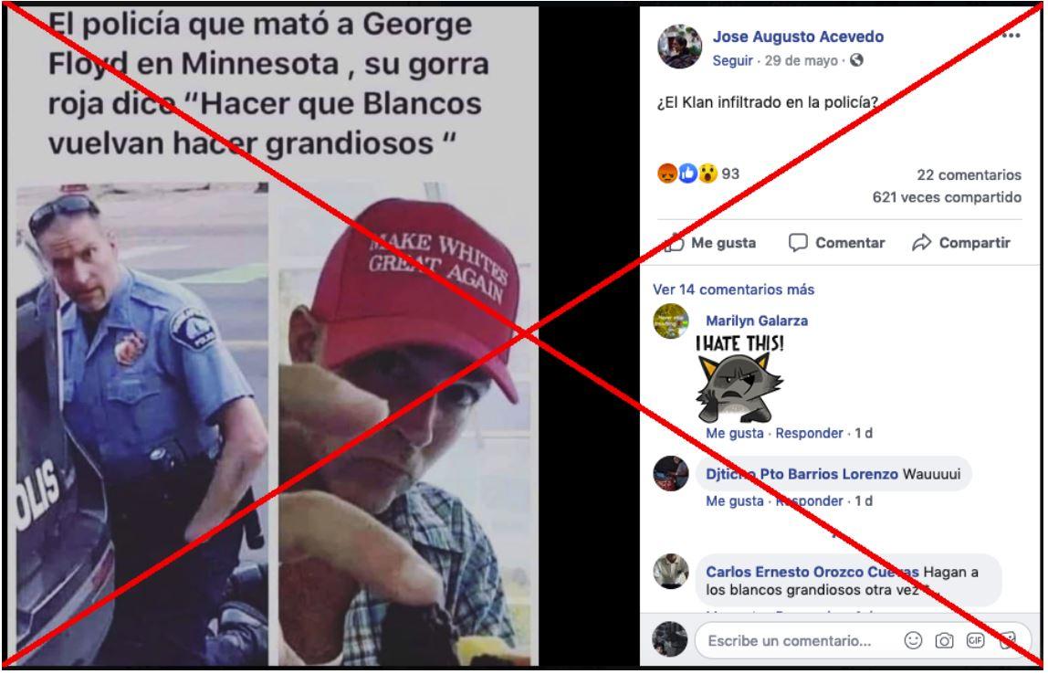 Verificamos por usted: ¿Policía acusado de matar a George Floyd es el de la gorra de Donald Trump?