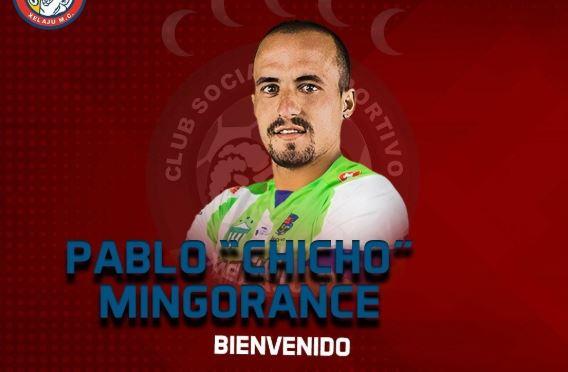 El jugador Pablo 'Chicho' Mingorance comienza una nueva aventura en Xelajú MC. (Foto Prensa Libre: Facebook Xelajú MC)