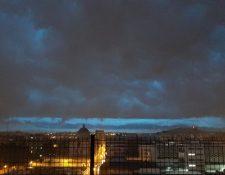 Nube sobre la ciudad de Guatemala este 24 de junio. (Foto Prensa Libre: Andrea Domínguez).