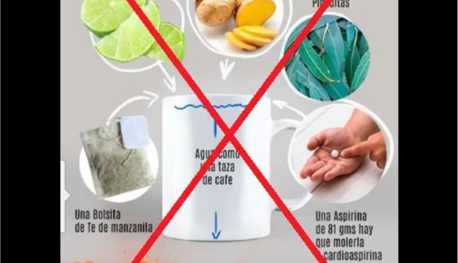 Verificamos por usted: una infusión de manzanilla, jengibre, limón, eucalipto y aspirina no cura el nuevo coronavirus