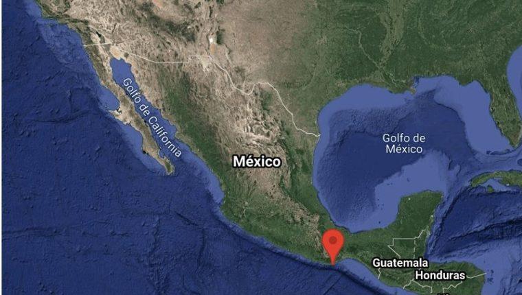 El epicentro del temblor fue reportado en México. (Foto Prensa Libre: INEGI)