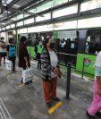 El servicio de prueba del Transmetro se desarrolla durante el sábado 6 y domingo 7 de junio. (Foto Prensa Libre: Érick Ávila)