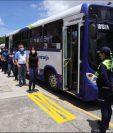El servicio de transporte público de las rutas Express se prepara para abrir. (foto Prensa Libre: Muni Mixco)