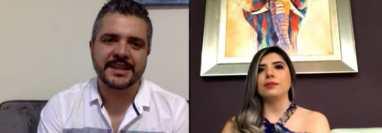 Héctor Carrillo e Irma Carrillo socios fundadores de Mr. Barber Shop compartieron con la audiencia de Hablemos de Dinero. (Foto Prensa Libre: Captura de Youtube)