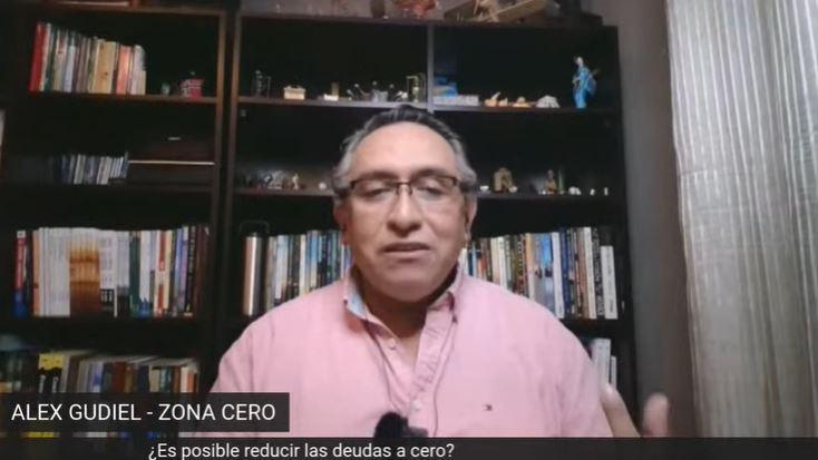 Alex Gudiel de Zona Cero conversó sobre finanzas personales en tiempos de coronavirus. (Foto Prensa Libre: Captura de Youtube)