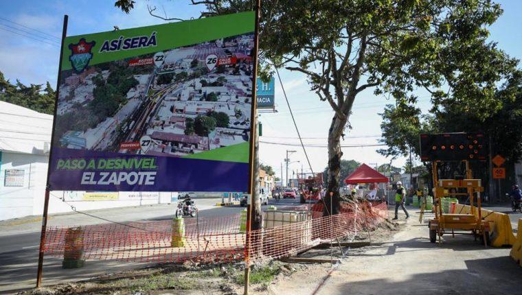 El tránsito será más ágil en el lugar con la inauguración del paso a desnivel de El Zapote. (Foto Prensa Libre: Muniguate)