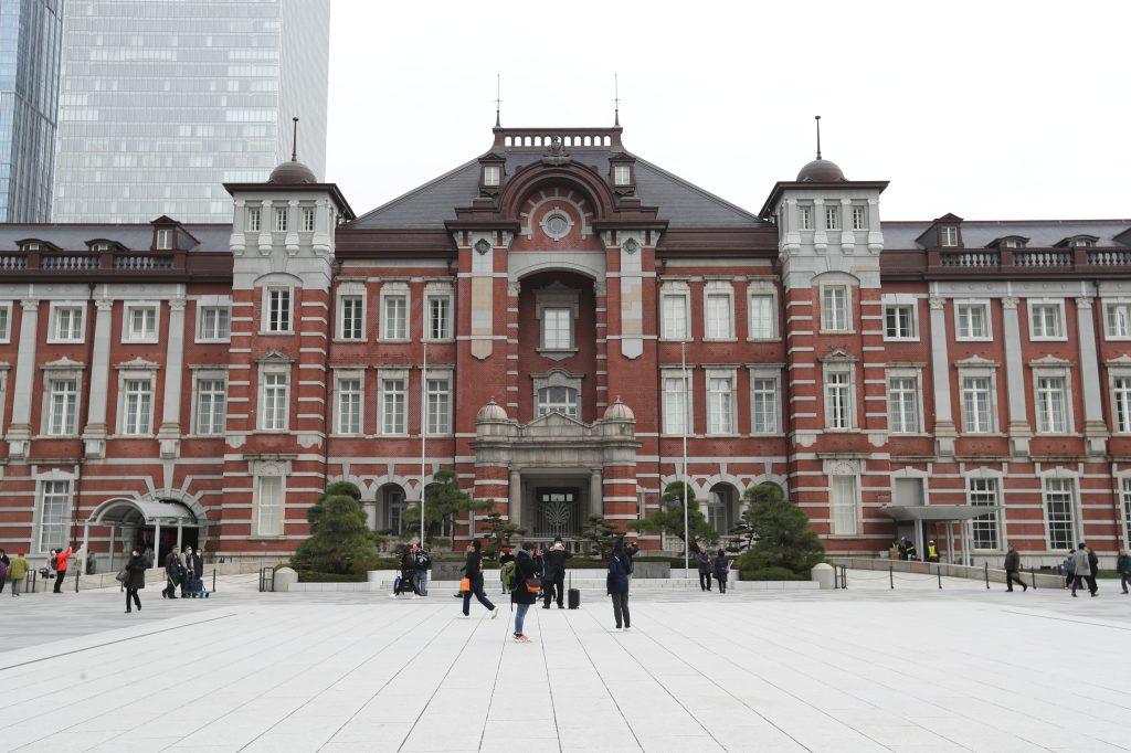 Fachada antigua de la estación del tren de Tokyo ubicada en el distrito comercial Marunouchi en Chiyoda. (Foto Prensa Libre: Daniel Guillén Flores)