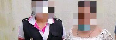 Yesica Crisinda Barreno Gómez fue capturada en la zona 1 de Santo Tomás La Unión, Suchitepéquez. (Foto Prensa Libre: PNC)