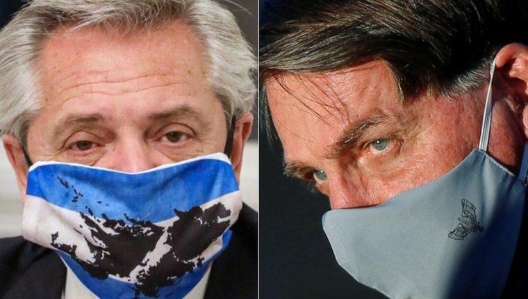 Los presidentes de Argentina y Brasil, Alberto Fernández y Jair Bolsonaro (de izquierda a derecha), viven en una atmósfera de hostilidad abierta.