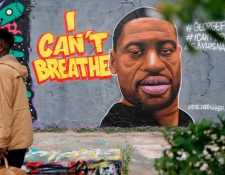 """""""I can`t breathe"""" (""""no puedo respirar""""), es una frase que Floyd repitió incesantemente mientras los policías lo mantenían sometido."""