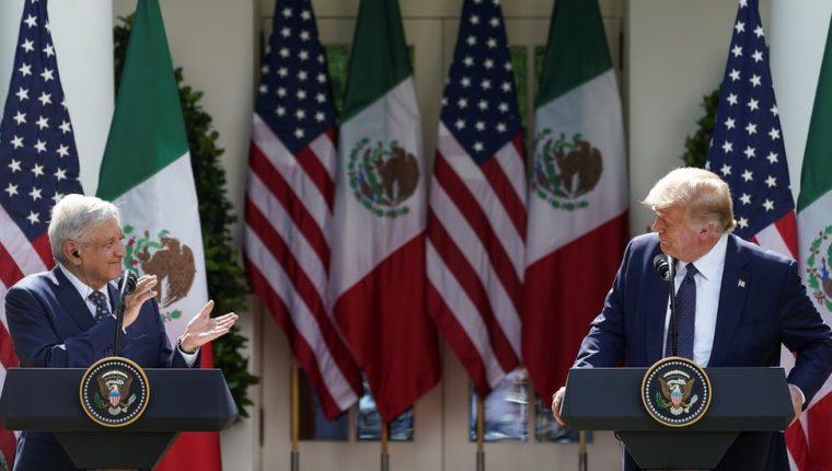 López Obrador y Trump mostraron una sintonia peculiar en su primer encuentro personal. REUTERS