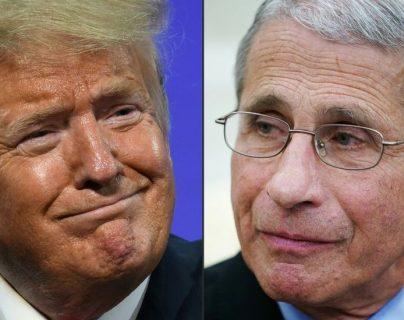Trump asegura en que tiene una buena relación con Fauci.