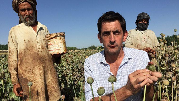 El corresponsal jefe de medio ambiente de la BBC visitó los cultivos de opio afganos.