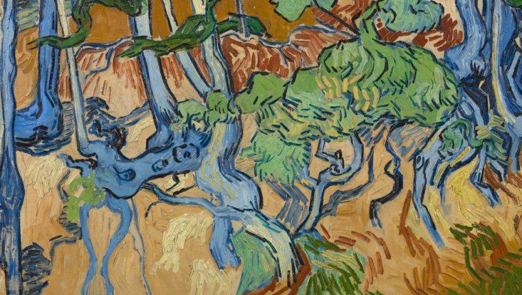 """""""Raíces de árboles"""" es probablemente la última obra que pintó Vincent Van Gogh."""