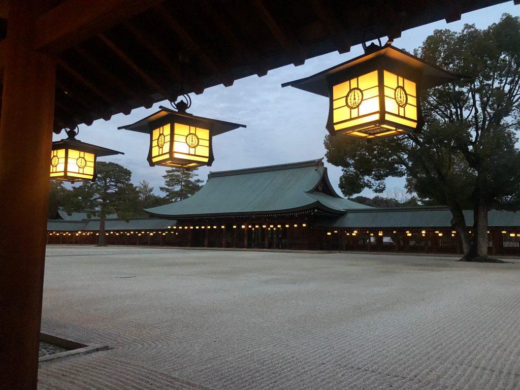 Interior del templo sintoista Kashihara, ubicado en Kashihara, prefectura de Nara. (Foto Prensa Libre: Daniel Guillén Flores)
