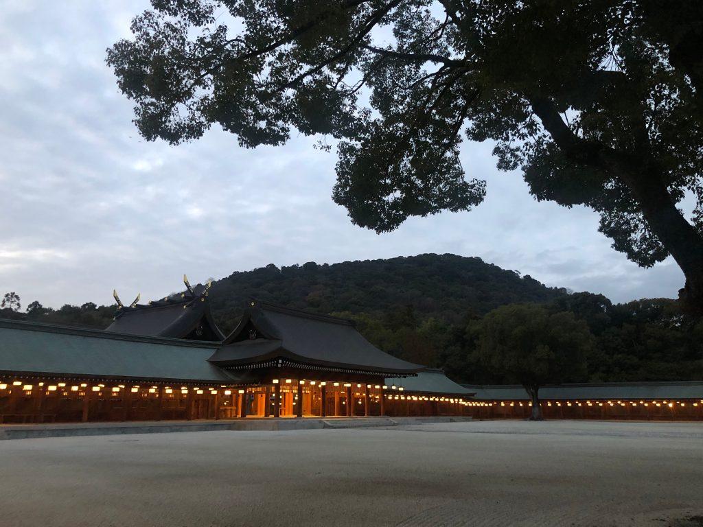 Interior del templo sintoista Kashihara, ubicado en Kashihara, prefectura en Nara. En este lugar se coronó al primer emperador japonés Jinmu. (Foto Prensa Libre: Daniel Guillén Flores)