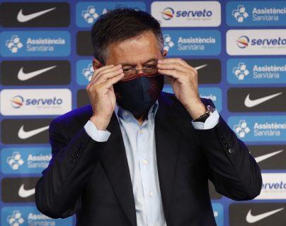 El presidente del FC Barcelona, Josep Maria Bartomeu, aseguró que esta en el último curso con el club. (Foto Prensa Libre: EFE).