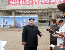 Líder coreano Kim Jong Un en una foto del 20 de julio último. (Foto Prensa Libre: Hemeroteca PL)
