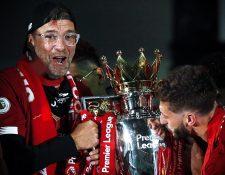 Jürgen Klopp fue campeón de la Premier con el Liverpool. (Foto Prensa Libre: EFE).
