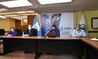 La ministra de Salud informa sobre la situación del coronavirus en Guatemala. (Foto Prensa Libre: Presidencia)