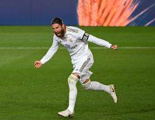 Sergio Ramos anotó desde el punto penal el gol del triunfo. (Foto Prensa Libre: AFP)