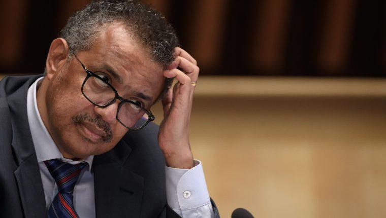 Tedros Adhanom Ghebreyesus, director general de la OMS. (Foto Prensa Libre: AFP)